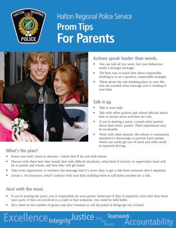 Prom Tips for Parents