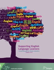 Supporting English Language Learners in Grades 1 to 8