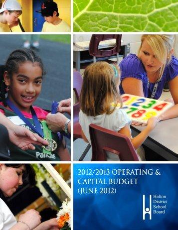 Budget 2012/2013 - Halton District School Board