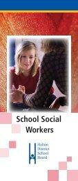 School Social Worker Brochure - Halton District School Board