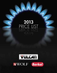 Price Book - Vulcan, Wolf and Berkel