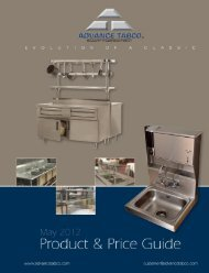 Advance Tabco Catalog - Specialized Storage Systems
