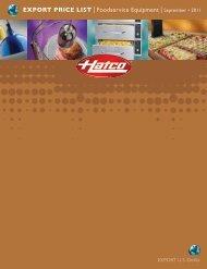 EXPORT PRICE LIST lFoodservice Equipment lSeptember • 2011