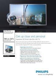 55PFL4508K/12 Philips 3D Smart Ultra Slim LED TV with Pixel Plus ...
