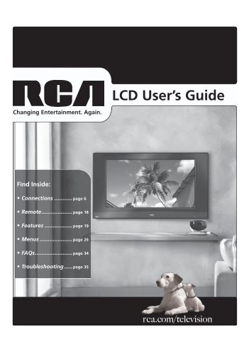 User's Manual - Home Theater HDTV