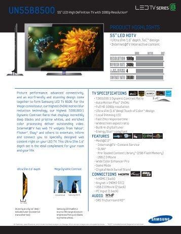 Series 8500 LED.indd - Samsung