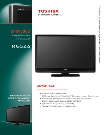 Product Sheet - Home Theater HDTV