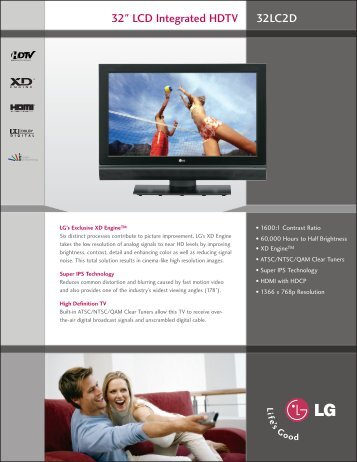 "32"" LCD Integrated HDTV 32LC2D"