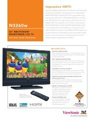 N3260w PDF Spec Sheet - ViewSonic