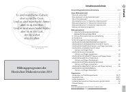 Bildungsprogramm des Hessischen Diakonievereins 2013