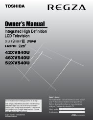 Owner's Manual - Toshiba Canada