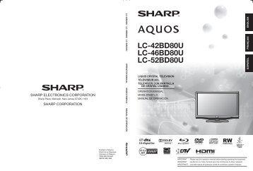 LC-42BD80U LC-46BD80U LC-52BD80U - Sharp Electronics