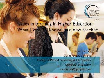 BioScience 1 - Higher Education Academy