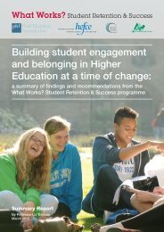 What works? Summary report - Higher Education Academy