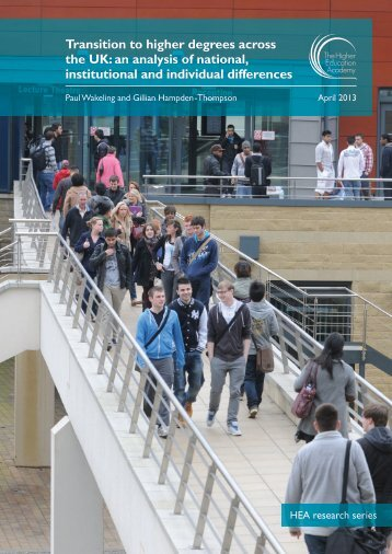 Transition to higher degrees across the UK: an analysis of national ...
