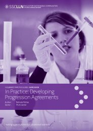 In Practice: Developing Progression Agreements - University of ...
