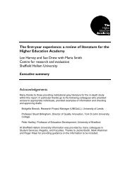 The first-year experience: a review of literature for the Higher ...