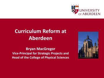 Curriculum reform at Aberdeen - Higher Education Academy