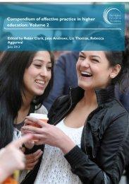 Compendium of effective practice in higher education: Volume 2