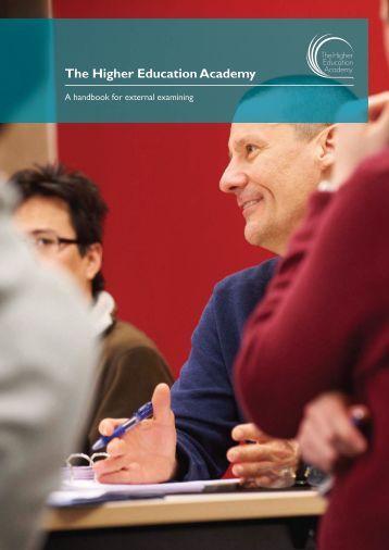 A handbook for external examining - Higher Education Academy
