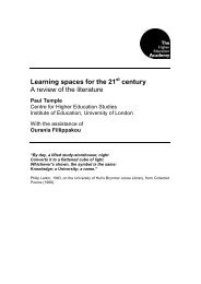 Learning spaces for the 21 century A review of the literature - Higher ...