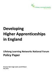 Developing Higher Apprenticeships in - Lifelong Learning Networks