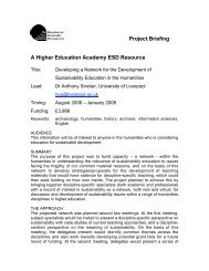 Project Briefing A Higher Education Academy ESD Resource