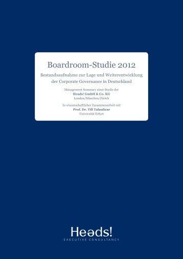 Boardroom-Studie 2012 - Heads!