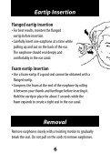 ER-6 ER-6i Isolator Earphones User Manual - Headset Experts - Page 6