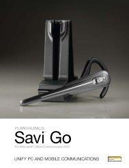 Savi Go MOC Data Sheet - SKC Communication Products