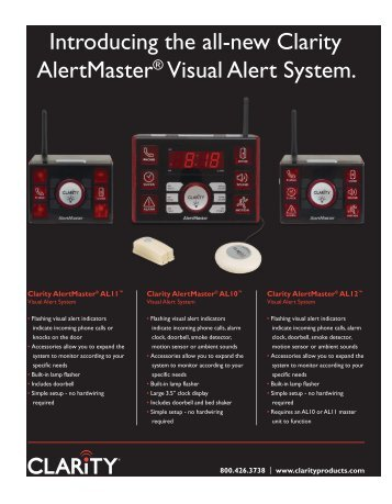 Introducing the all-new Clarity AlertMaster ... - Headset Experts
