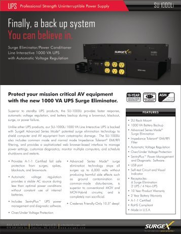 SU1000Li Product Brochure - Headset Experts