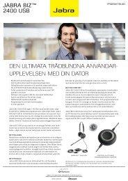 Produktblad Jabra BIZ 2400 USB - Headsetshoppen