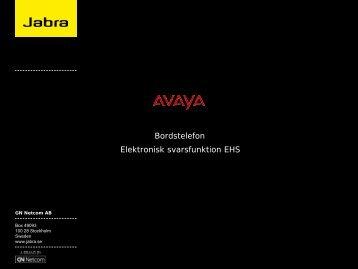 EHS-dokumentation Avaya - Headsetshoppen