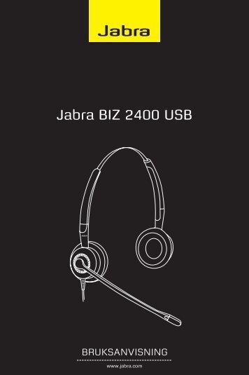 Bruksanvisning Jabra BIZ 2400 USB - Headsetshoppen