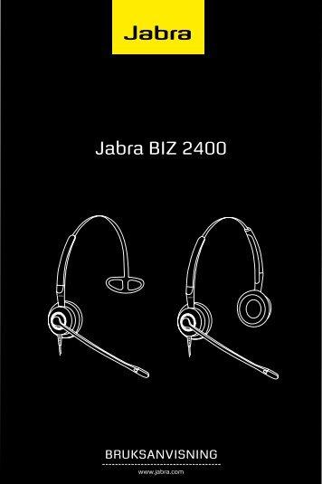 Bruksanvisning Jabra BIZ 2400 - Headsetshoppen