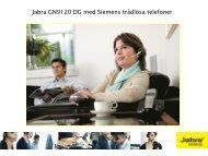 Jabra GN9120 DG med Siemens trådlösa telefoner - Headsetshoppen
