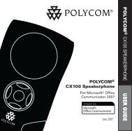 Polycom CX100 User Guide