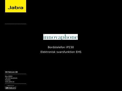 EHS-dokumentation Innovaphone - Headsetshoppen