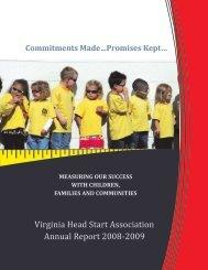 Commitments made...promises kept... - Virginia Head Start Association