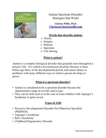 Autism Spectrum Disorder: Strategies that Work!