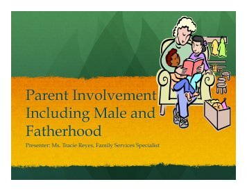 Parent Involvement Including Male and Fatherhood