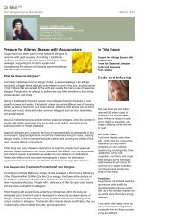 Prepare for Allergy Season with Acupuncture - Red Bank ...
