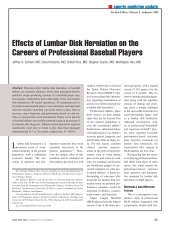Effects of Lumbar Disk Herniation on the Careers of ... - Healio