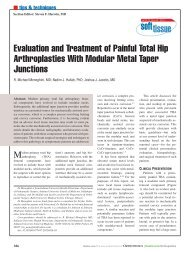 Evaluation and Treatment of Painful Total Hip Arthroplasties ... - Healio