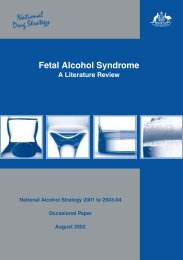 Fetal Alcohol Syndrome A literature review - Department of Health ...