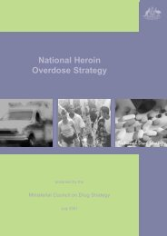 National Heroin Overdose Strategy - National Drug Strategy