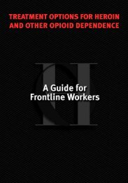 A Guide for Frontline Workers - National Drug Strategy