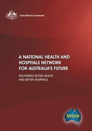 1. A National Health and Hospitals Network for Australia's Future