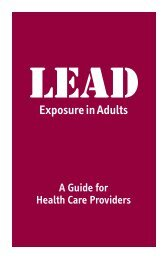 Lead Exposure in Adults - New York State Department of Health